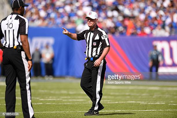 referee John Parry during the second half of a NFC matchup between the Arizona Cardinals and the New York Giants at MetLife Stadium in East...