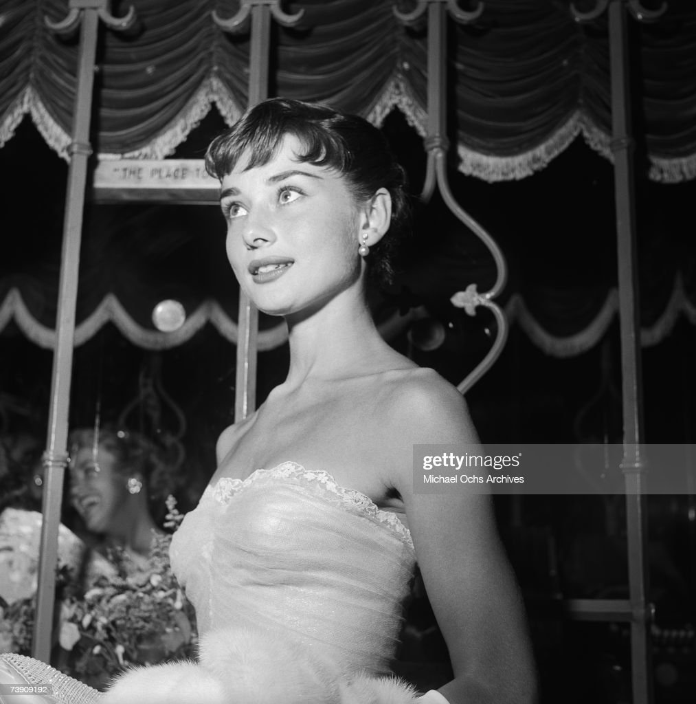 September 14, 1953, California, Westwood, Audrey Hepburn atteding a benefit premiere of Roman Holiday.