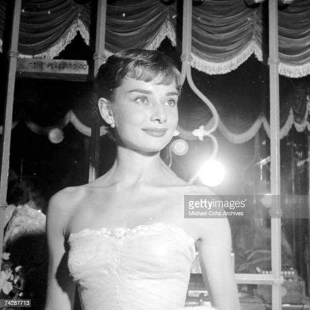 September 14 California Westwood Audrey Hepburn attending the movie benefit premiere of Roman Holiday