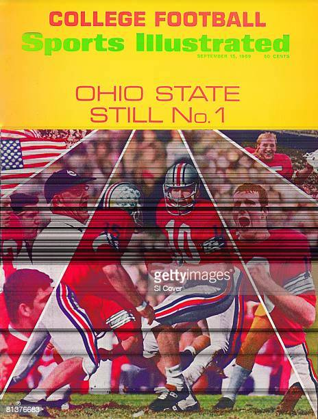 September 15 1969 Sports Illustrated Cover College Football Ohio State Still No Fans with USA flag during Rose Bowl at Pasadena CA on 1/1/1969 Ohio...