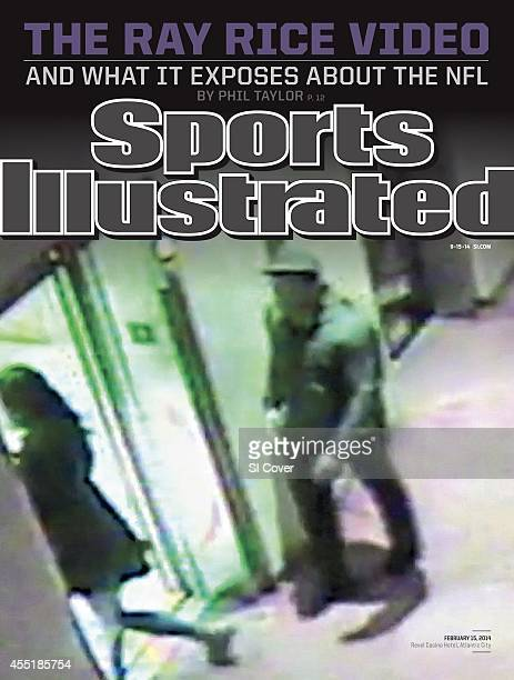 September 15, 2014 Sports Illustrated via Getty Images Cover: Football: Frame grab of Baltimore Ravens Ray Rice before attacking his fiancee Janay...