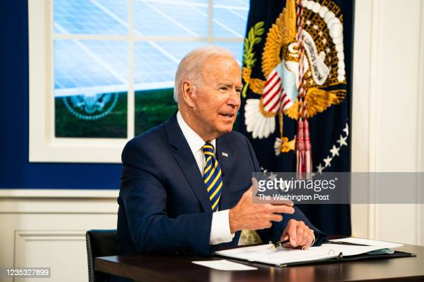 September 17, 2021: US President Joe Biden delivers remarks at the Major Economies Forum on Energy and Climate to galvanize efforts to confront the...