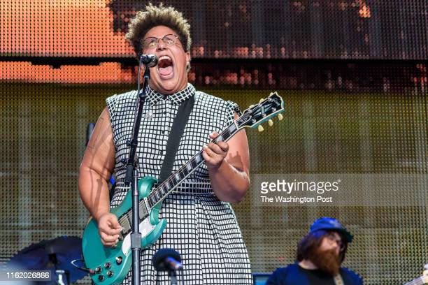 BRISTOW VA September 17th 2016 Brittany Howard of Alabama Shakes performs at Farm Aid 2016 at Jiffy Lube Live in Bristol VA The annual concert which...