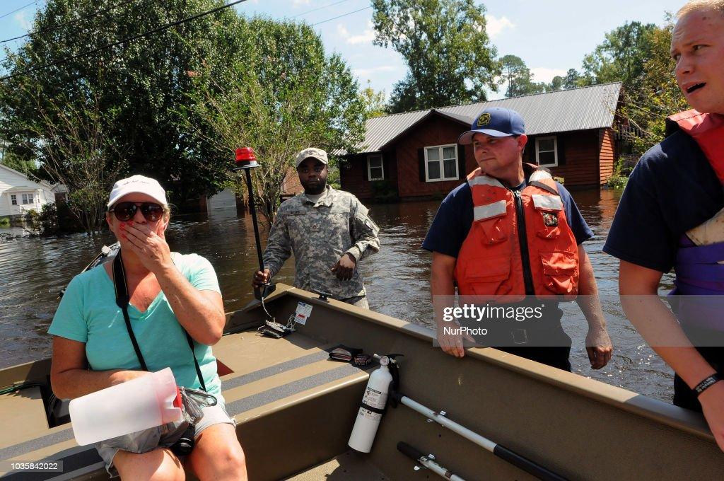 Carolinas Face Flooding After Hurricane Florence Lumbers Through States : News Photo