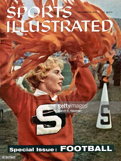 September 19 1960 Sports Illustrated Cover College Football Closeup of Syracuse cheerleader Lois Goetz during game vs West Virginia Syracuse NY