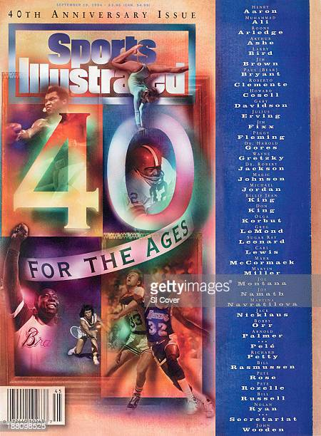 September 19 1994 Sports Illustrated via Getty Images Cover 40th Anniversary Issue Boxing Muhammad Ali vs Joe Frazier during WBC/ WBA Heavyweight...