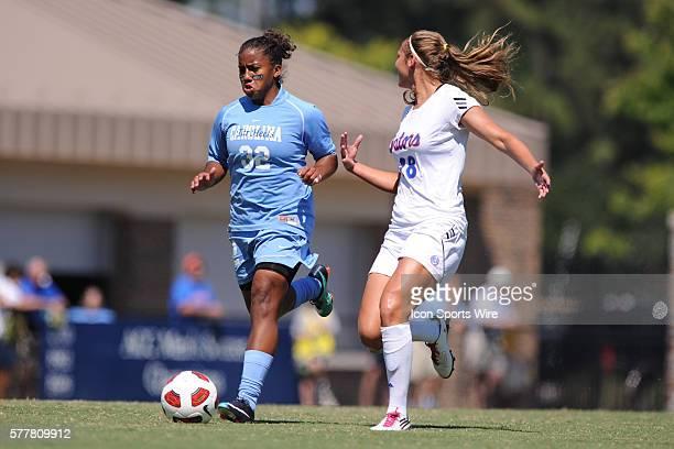 North Carolina midfielder Meg Morris and Florida forward Lindsay Thompson during a game between the Florida Gators and the North Carolina Tar Heels...