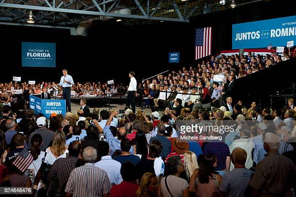 September 19, 2012 Mitt Romney Holds A Juntos Con Romney Rally In Miami. After Mitt Romney Participated in a Meet The Candidate Event At University...