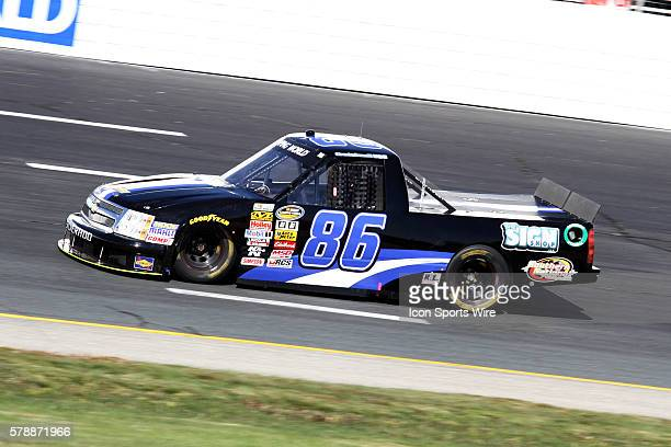 Brandon Brown NASCAR Camping World Truck Series driver of the Dominion Recycling Chevy truck during practice for the Camping World Truck Series UNOH...