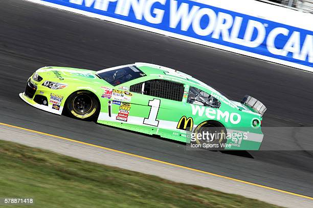 Jamie McMurray, NASCAR Sprint Cup Series driver of the Belkin/WEMO Chevrolet during practice for the Sprint Cup Series Sylvania 300 at New Hampshire...