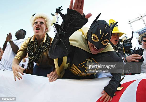 CU Buffs fans during the Rocky Mountain Showdown between the Colorado University Buffaloes and the Colorado State University Rams at Sports Authority...