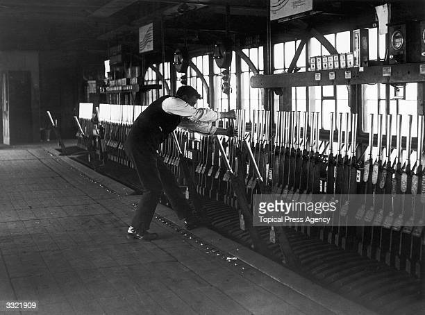 A railway inspector at work as a signalman during the strike