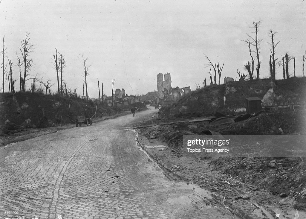 The ruins of Ypres in Belgium, the site of three major battles during the first world war.