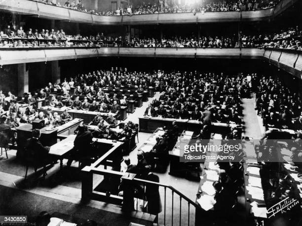 League of Nations Conference at Geneva, Switzerland.