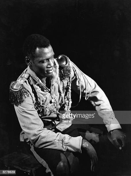 US singer and actor Paul Robeson in a production of Eugene O'Neill's play 'Emperor Jones' at the Ambassadors' Theatre