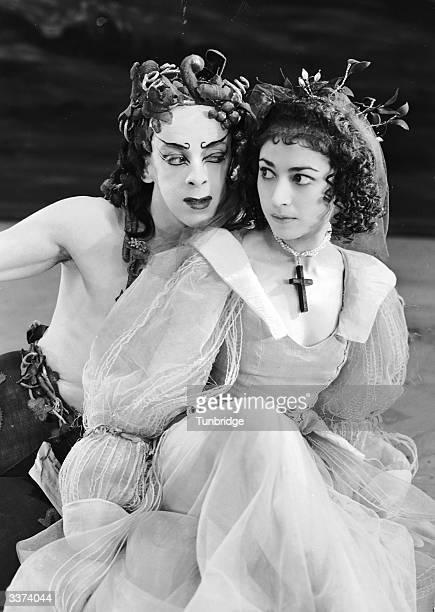 Beryl Grey and Robert Helpmann performing in John Milton's masque 'Comus' at the Sadler's Wells Theatre, London.