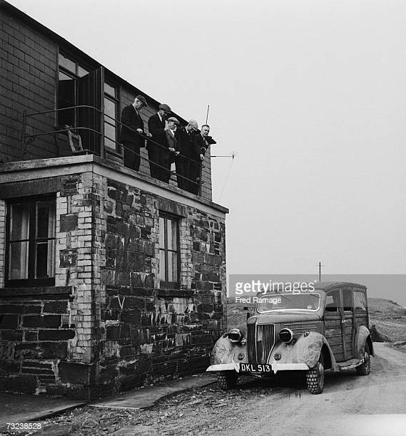 The Keystone photographer's car ready to depart after a tour of Manod Quarry north Wales where paintings from the National Gallery and elsewhere have...
