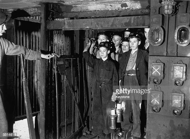 A number of boys volunteered for the coal mines following a Government appeal and started their training at Markham Main Colliery near Doncaster