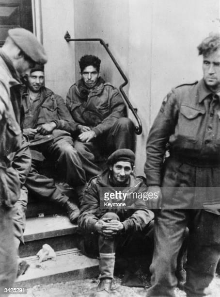 British Army prisoners captured by the Germans at Arnhem, Holland.