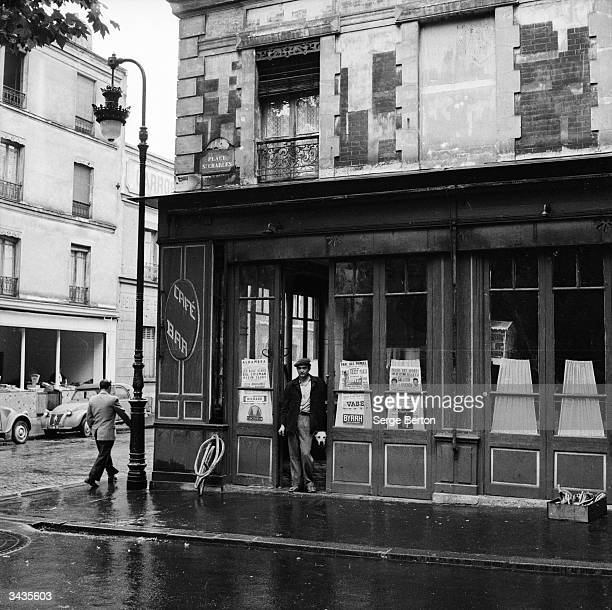 'Chez Agnes' cafe at 49 Place St Charles near the Eiffel Tower in Paris is owned by Georges Leon Inside the cafe he has built a monoplane