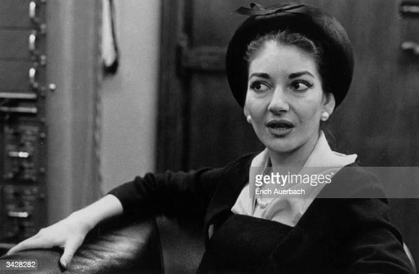 Operatic soprano Maria Callas .