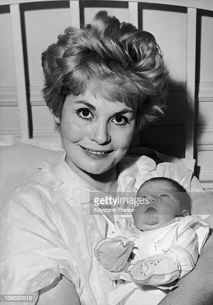 September 1960 Noelle Adam And Her Son Stephane Chaplin