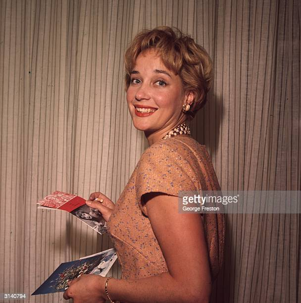 British stage and screen actress Sylvia Syms.
