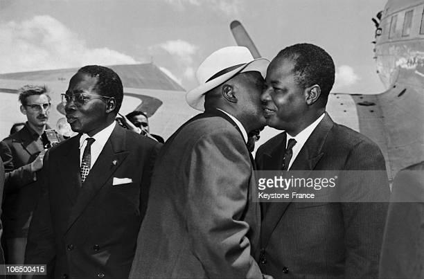 September 1961, Madagascar, Antananarivo, Ivato Airport, Philibert Tsiranana, Ahmadou Ahidjo And Leopold Sedar Senghor