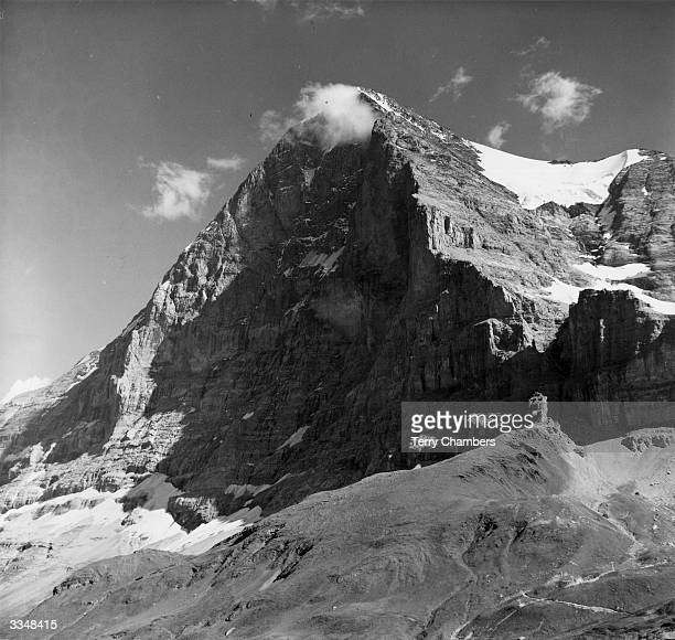 The North side of the Eiger in the Bernese Alps Switzerland