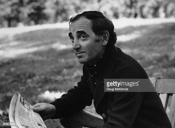 French singer and actor Charles Aznavour