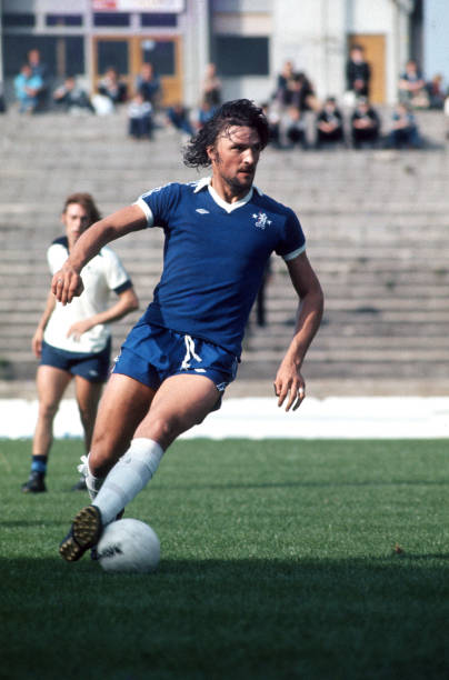September 1977 - Football League Division One - Chelsea v Derby - Mickey Droy of Chelsea. -