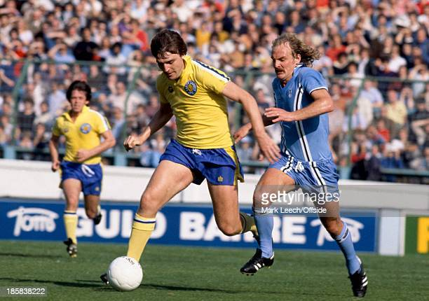 23 September 1978 English Football League Division One Coventry City v Leeds United Ray Hankin of Leeds brings the ball away from Terry Yorath