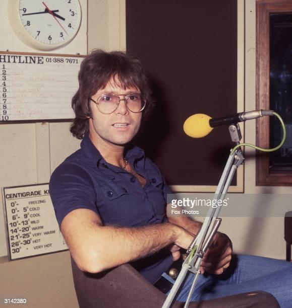 Pop star Cliff Richard at Capital Radio
