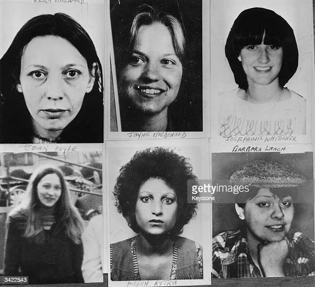 Six of the young women murdered by Peter Sutcliffe, known as the Yorkshire Ripper. Top left to right; Vera Millward, Jayne MacDonald, Josephine...