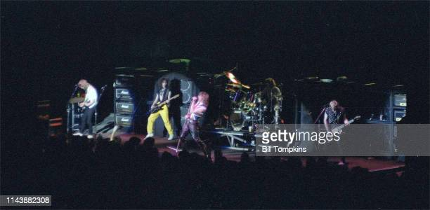 Def Leppard perform September 1983 in New York City