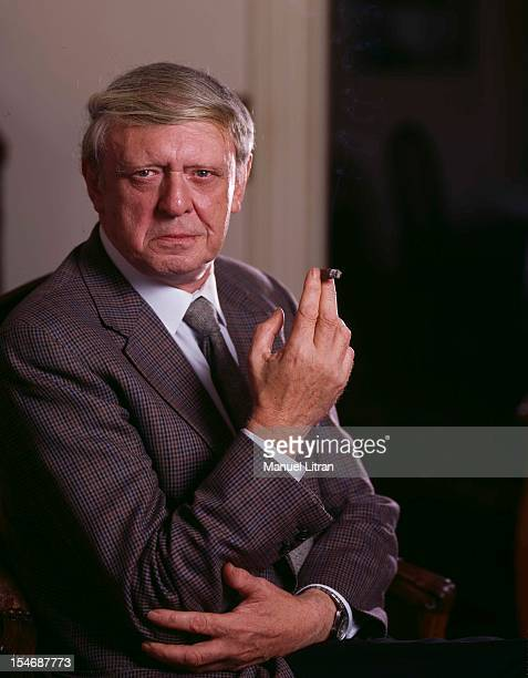 September 1984 portrait of the British writer Anthony Burgess was the occasion of the release of his book 'Last News of the World' smoking a cigar