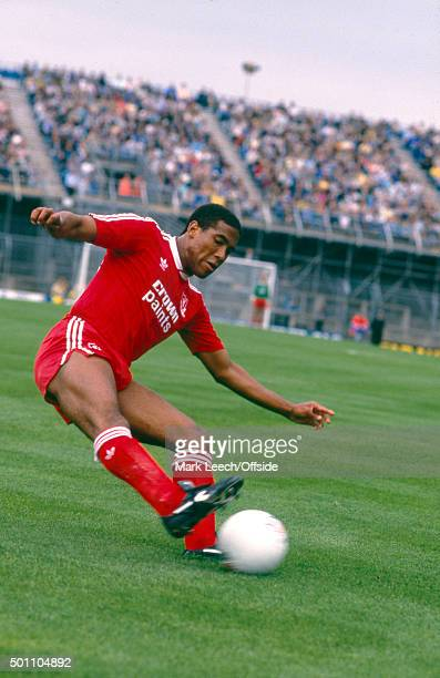 20 September 1987 Football League Division One Newcastle United v Liverpool John Barnes of Liverpool controls the ball