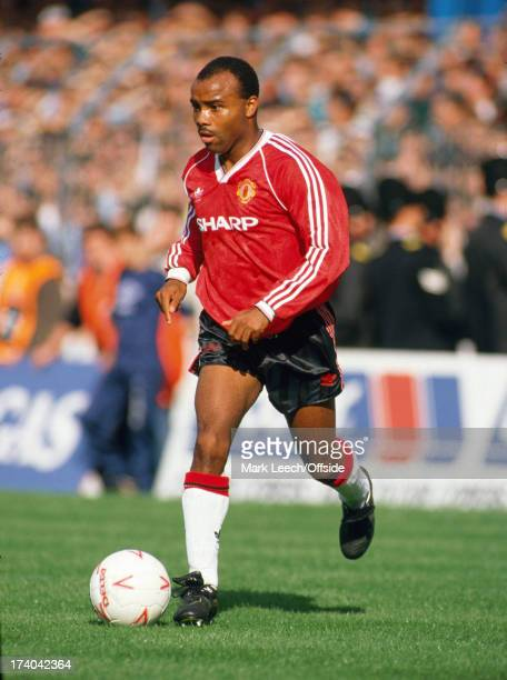 23 September 1989 Football League Division One Manchester City v Manchester United Danny Wallace of United