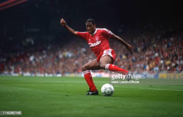 16 September 1990 Liverpool v Manchester United English Football Division One Liverpool John Barnes of Liverpool performs a cruyff turn