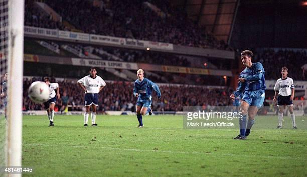 12 September 1994 FA Premiership Football Tottenham Hotspur v Southampton Matt Le Tissier scores from the penalty spot