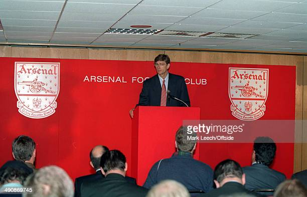 22 September 1996 Arsene Wenger has his first press conference as Arsenal manager