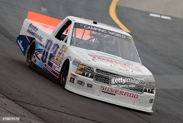 Tyler Young NASCAR Camping World Truck Series driver of the Randco/Young's Building Systems Chevy truck during the Camping World Truck Series UNOH...