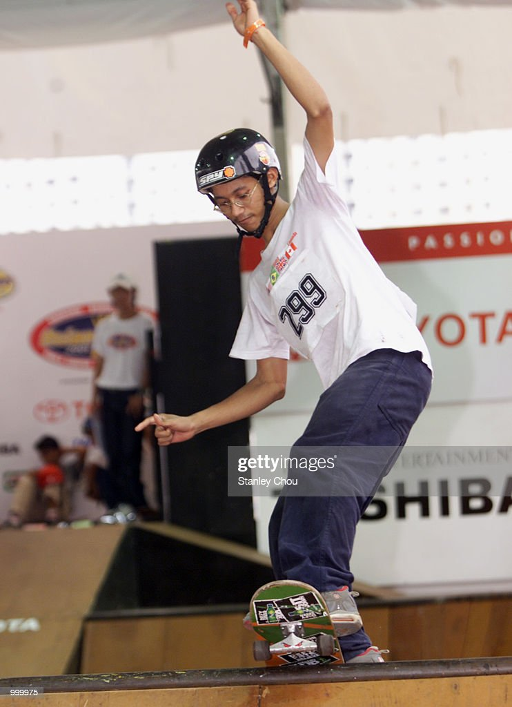 Md Syukir Abd Hadi of Malaysia in action during the preliminary round of the Skateboarding Park of the Main X Category during the Asian X-Games Qualifier held at the Mid-Valley Mega Mall, Kuala Lumpur, Malaysia.