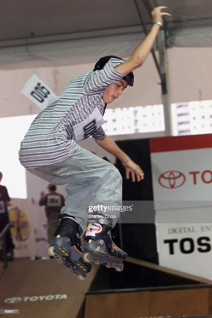 Tunku Alang Tungku Ibrahim of Malaysia in action during the preliminary round of the Aggressive Inline Skating Park of the Junior X Category during the Asian X-Games Qualifier held at the Mid-Valley Mega Mall, Kuala Lumpur, Malaysia.