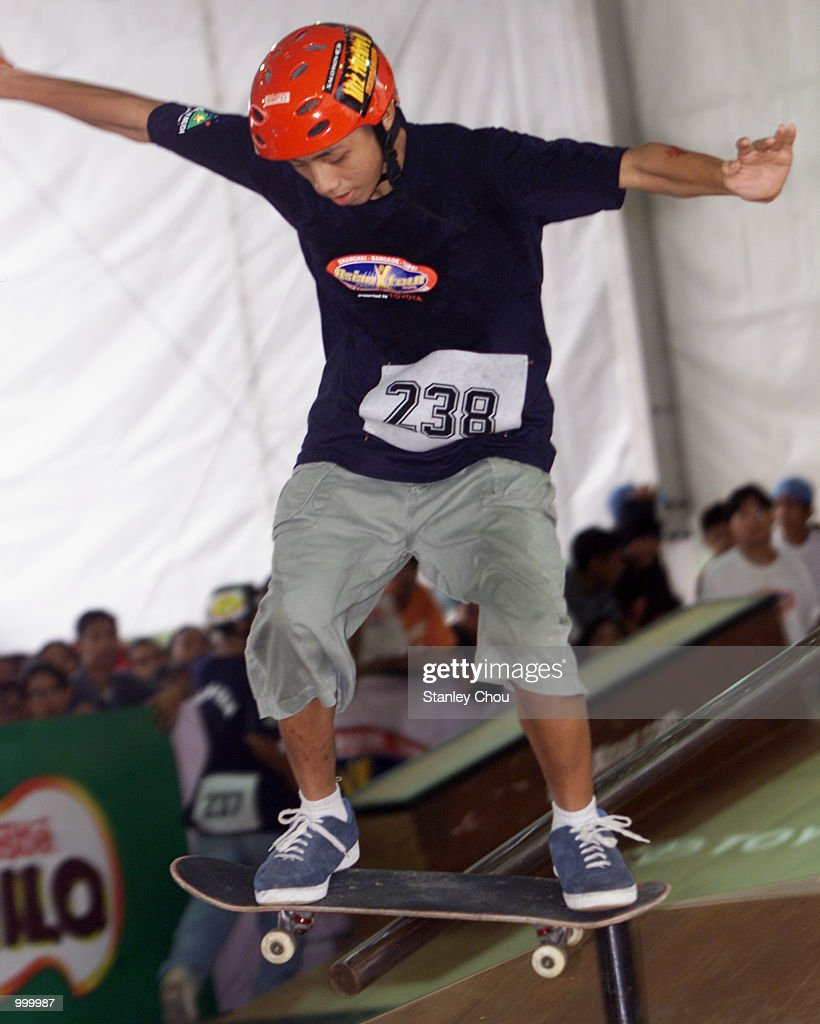 Wan Mohd B. Wan Pauzi of Malaysia in action during Aggressive Inline Skating Park of the Main X Category during the Asian X-Games Qualifier held at the Mid-Valley Mega Mall, Kuala Lumpur, Malaysia.