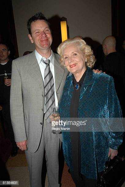 10 September 2003 MICHAEL VEITCH and VAL JELLAY at the after party for the opening night of the show Certified Male at Her Majesty's Theatre...