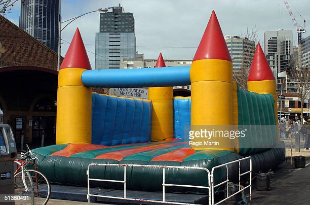 7 september 2003 The Jumping Castle at the Queen Victoria Market Melbourne Victoria Australia