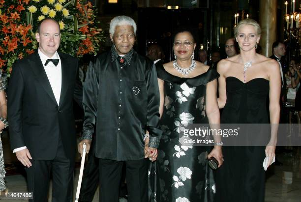 2 September 2007 Hotel de Paris Monaco A charity gala evening organised by Prince Albert II and Nelson Mandela to benefit Amade Mondiale Nelson...