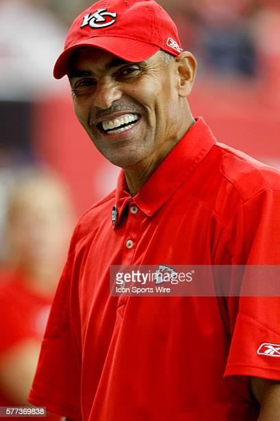 Kansas City Chiefs head coach Herm Edwards in the Atlanta Falcons 3814 victory over the Kansas City Chiefs at the Georgia Dome in Atlanta Georgia