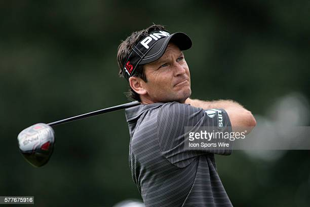 PGA Pro Mark Wilson tees off during the 3rd round of the BMW Golf Classic at Cog Hill Golf Club in Lemont Illinois